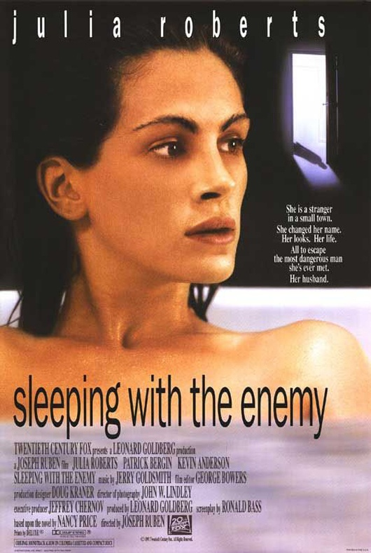 Sleeping with the Enemy directed by Joseph Ruben (1991) #escape #deception #infidelity Novel by Nancy Price