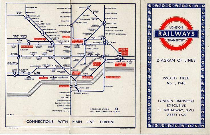 images of london transport | London Transport Underground Maps 1948-1956