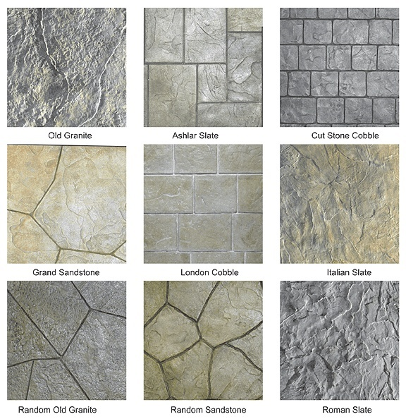 stamped concrete wood pattern maryland patterns design stamp ebay images