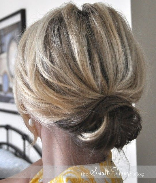 Updo Hairstyles for Short Hair: Casual Low Bun