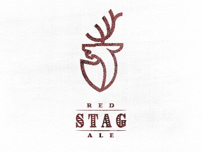 Red Stag Ale by Mike Bruner -Memorable Logo Design