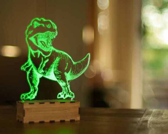 DInosaur Night Light, T-Rex desk lamp, Desk accessory, USB led lamp, table lamp, jurassic USB lamp, Tyrannosaurus Rex $70