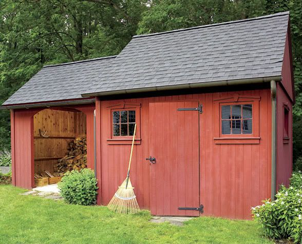 Little addition to the garden shed would work for parking Shed addition
