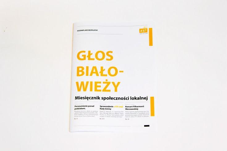 Minimalistic magazine design