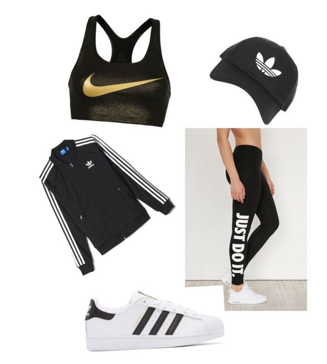 """""""Sports"""" by jessfry10 on Polyvore featuring NIKE, adidas Originals, Topshop and adidas"""