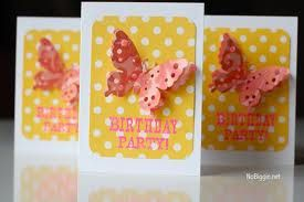 diy butterfly invitations - Google Search