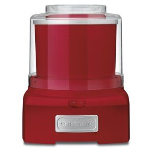 #9: Cuisinart ICE-21R Frozen Yogurt-Ice Cream  Sorbet Maker, Red.Kitchens, Red Kitchen, Cuisinart Ice, Ice Cream Maker, Sorbet Maker, Frozen Desserts, Products, Icecream, Frozen Yogurt Ic