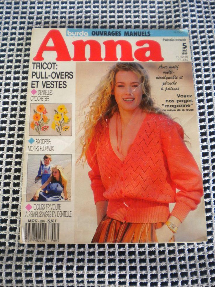 Catalogue Anna Burda Ouvrages Manuels : Matériel Tricot par l-atelier-de-nanie-tricot