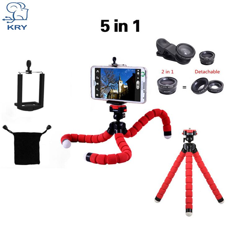 KRY 5in1 Tripod fish eye Fisheye Lentes 3in1 lenses for iPhone 5s lens 5 6 6s 7 Plus Camera lens wide Lens camera phone Macro