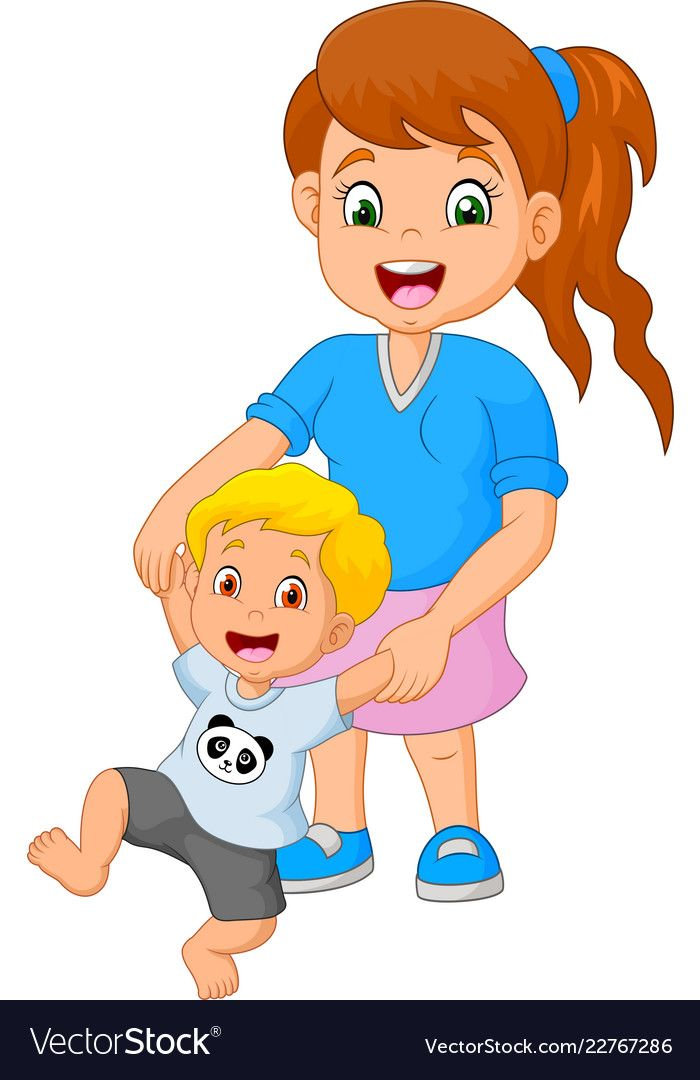 cartoon mother teaches the child to walk vector image on vectorstock mother teach family cartoon cartoon cartoon mother teaches the child to
