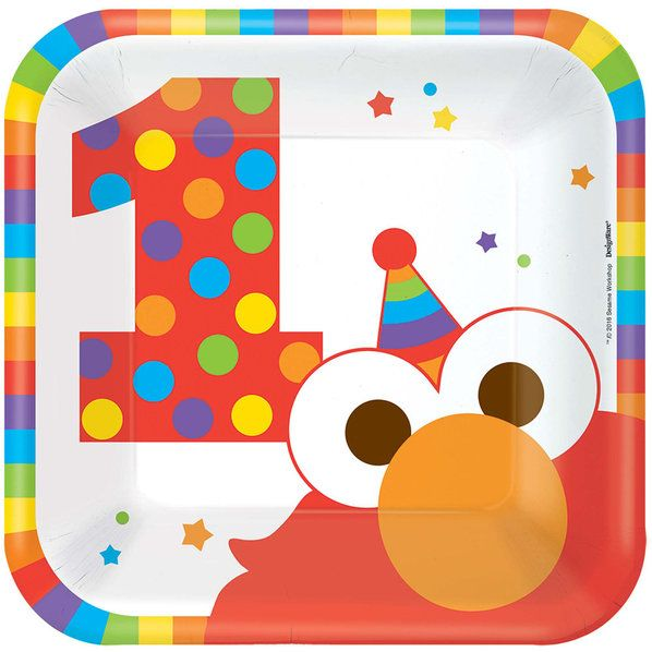 Check out Elmo Turns One Cake Plates | Elmo's 1st Birthday tableware & décor from Wholesale Party Supplies from Wholesale Party Supplies