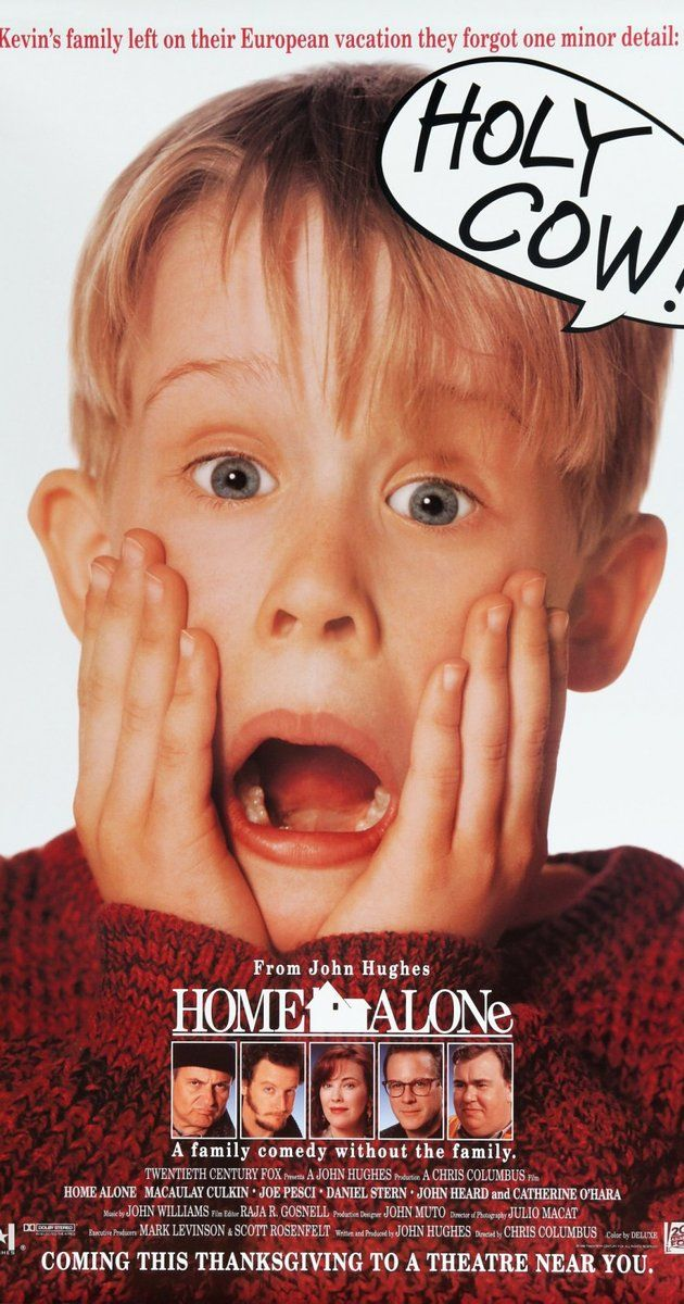 Directed by Chris Columbus.  With Macaulay Culkin, Joe Pesci, Daniel Stern, John Heard. An 8-year old troublemaker must protect his home from a pair of burglars when he is accidentally left home alone by his family during Christmas vacation.