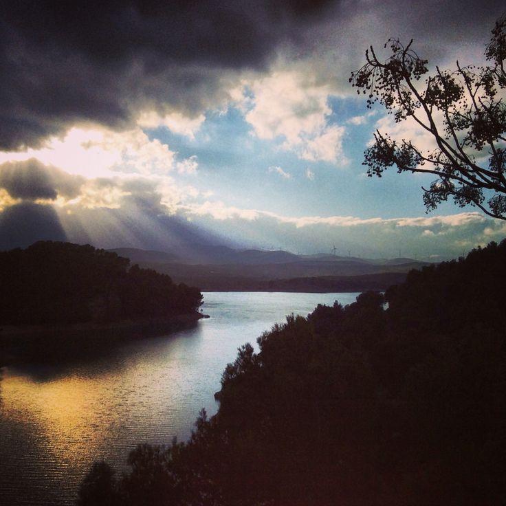 Begin van de avond bij de meren van Ardales #februari