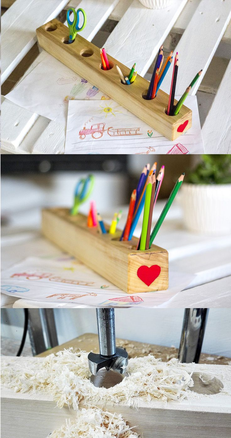 DIY Wooden Pencil Holder