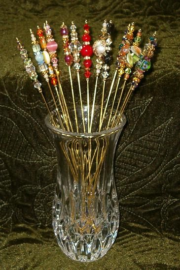 Love the idea of placing them in a toothpick holder of bud vase