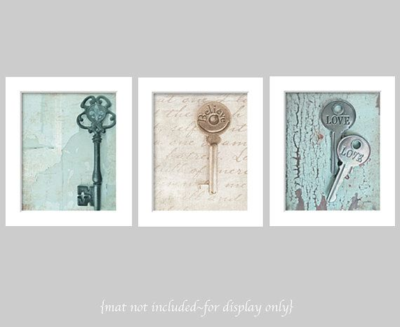 Key Wall Art old key photos, key wall art, wall gallery, rustic decor prints