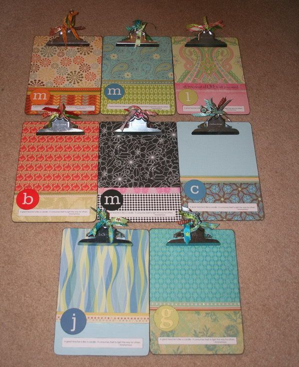Fun Mod Podge Clipboard for Lists or Photos. Paint the chipboards with Mod Podge for keeping lists, displaying photos or giving as gifts. http://hative.com/cool-and-easy-diy-mod-podge-crafts/