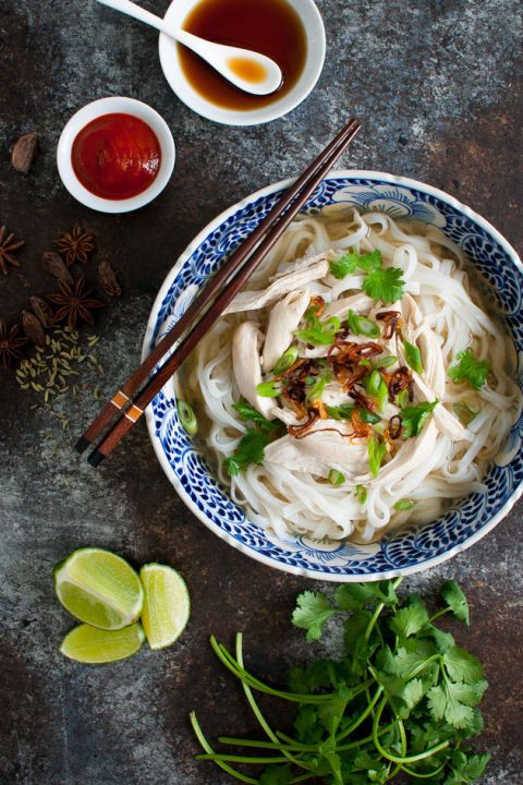 Vietnamese Chicken Pho: This is basically Vietnamese penicillin. This amazing, soothing dish just might have you rethinking chicken noodle soup.
