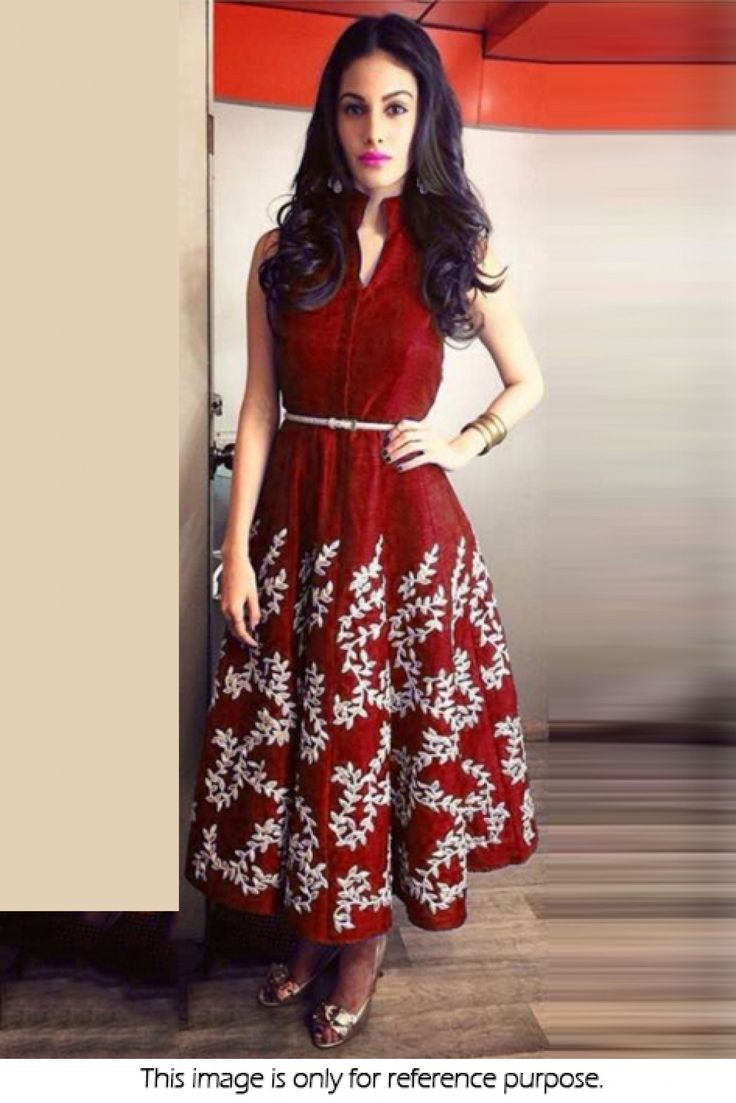 Bollywood Style Model Banglore Silk Suit In Maroon Colour NC1859 Maroon Colour Banglore Silk Fabric Designer Bollywood Suit Comes With Matching Bottom and Dupatta and Suit Comes as Semi Stitched Which...