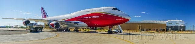 Boeing 747-200 (N744ST) at (KVCV) Standing by and ready to attack the next big fire