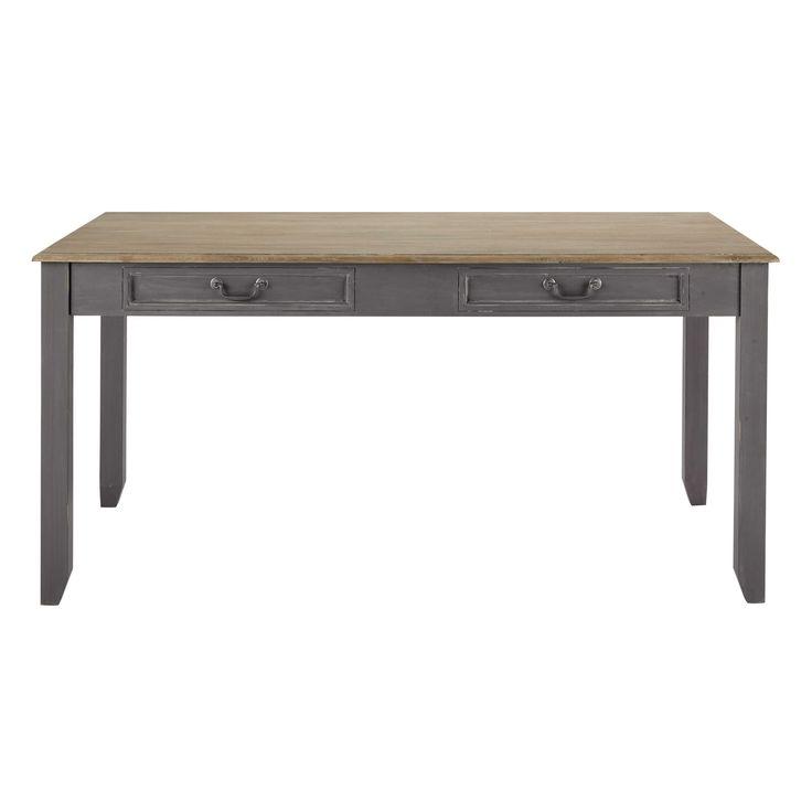 499,90€. Maisons du monde. Table de salle à manger à rallonge en bois grise L 160 cm Honorine. Marie non