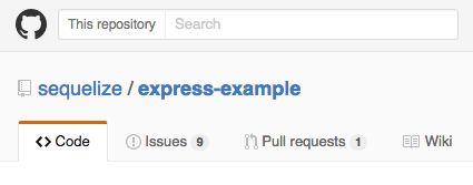 Sequelize Express Example