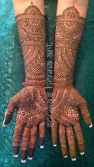 Intricate design. [Mehndi Maharani 2015 Finalist: Sonika's Henna Art]