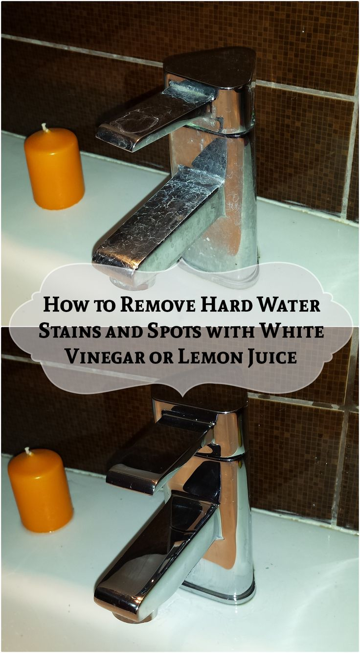 How to Remove Hard Water Stains and Spots with White Vinegar or Lemon Juice ==