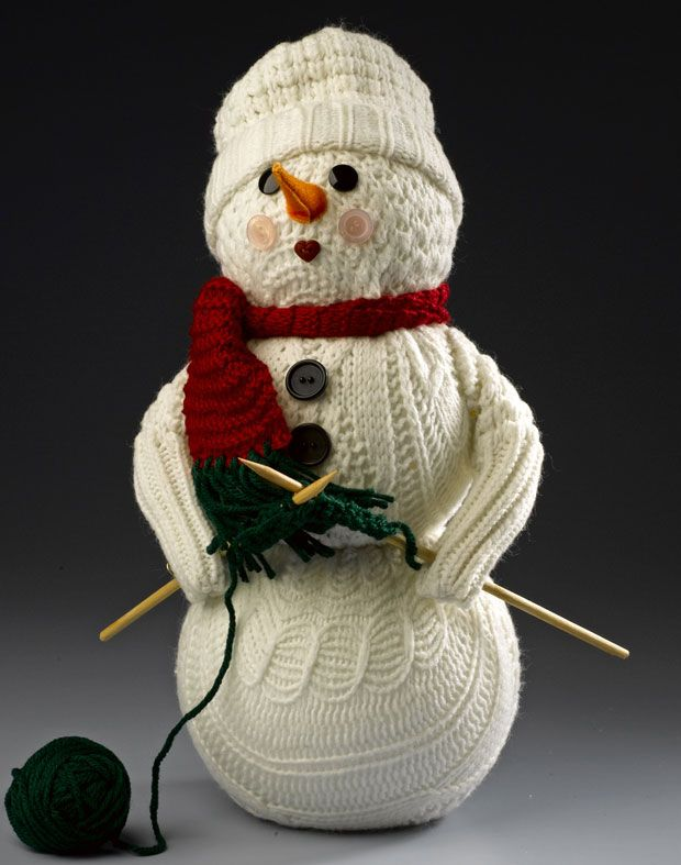 Snowman made from a old sweater.