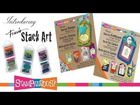 ▶ Stampendous Stack Art - Regal Bird and Storm Elements Kit - YouTube - #Stampendous Stack Art meets fun, bright elements like glitter, flock and color fragments for texture and amazing color.