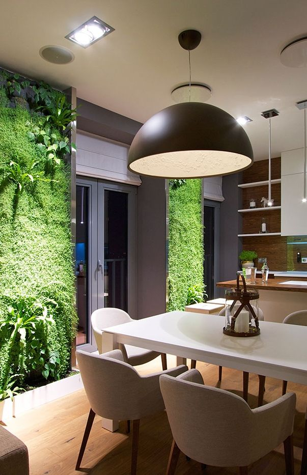 Architecture Beast: Modern Apartment Design: Green Walls by SVOYA