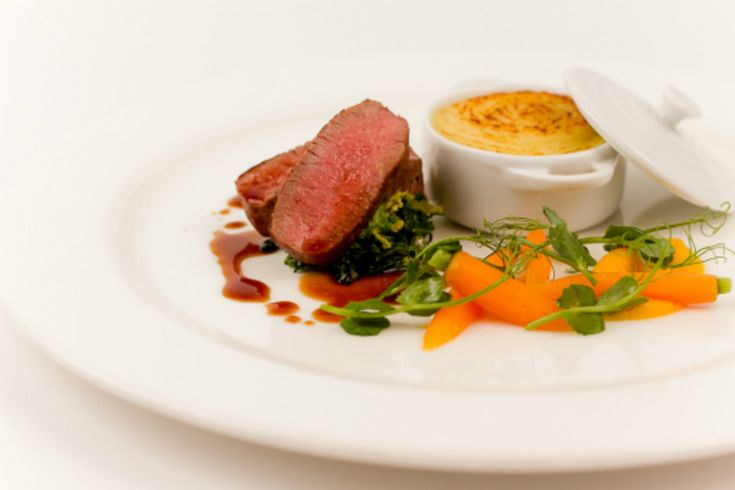 Roast Loin Of Lamb, Shepherds Pie, Carrot And Peas recipe by professional chef Russell Brown