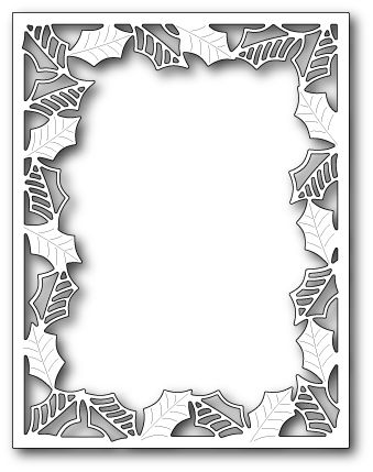 1543 Delicate Holly Frame craft die #poppystamps #holiday #craft #die #background #frame #die #papercraft