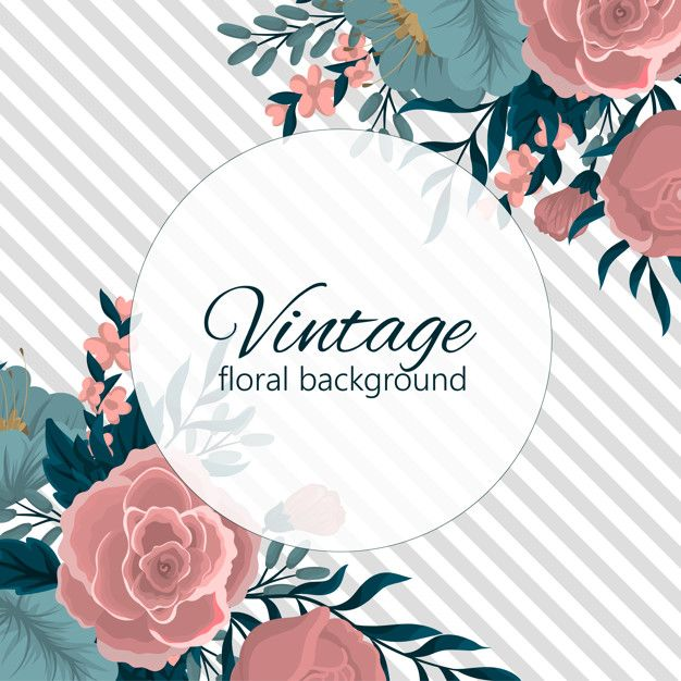 Greeting Card Template With Floral Background Floral Background Greeting Card Template Vintage Floral Backgrounds