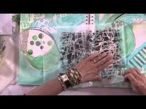 Stenciled Tissue Paper for Art Journals with Mary Beth Shaw preview - YouTube