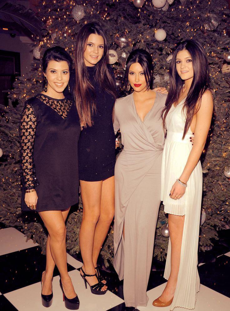 Kourtney Kardashian, her sisters Kendall Jenner, Kim Kardashian and Kylie Jenner