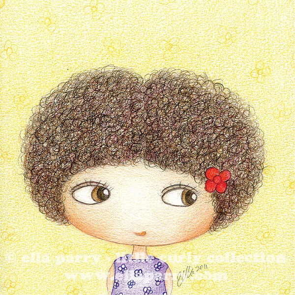 I'm Little Curly.  © ella parry - little curly collection