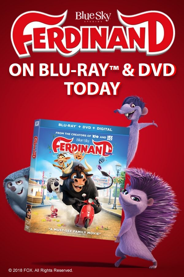 Own the most luv-a-BULL comedy of the year on Blu-ray/DVD today. #Ferdinand #Family #JohnCena
