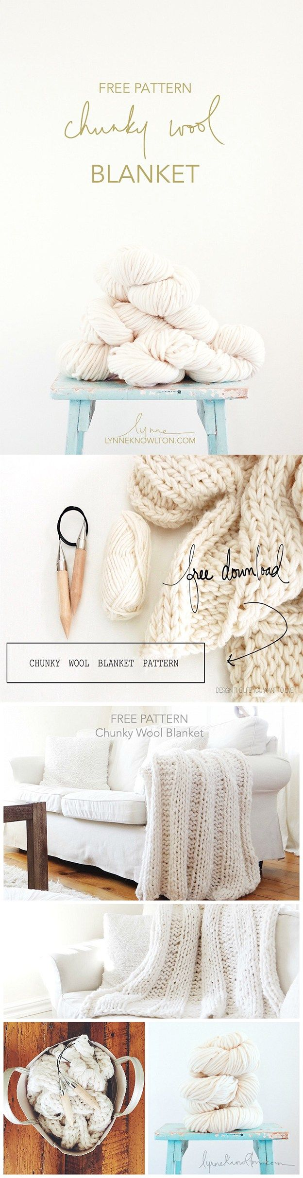 How to knit a chunky wool blanket. GORGEOUSNESS.
