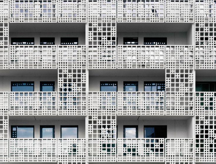 huttunen lipasti pakkanen perforates 3D facade for saukonpaasi housing in helsinki