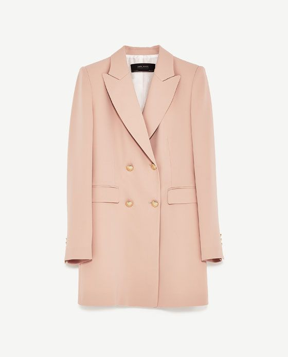 FROCK COAT DRESS from Zara in nude pink | under $100