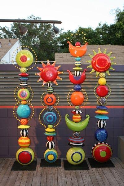 Moni Blom; some people see ceramic art...I see giant lampwork beads.