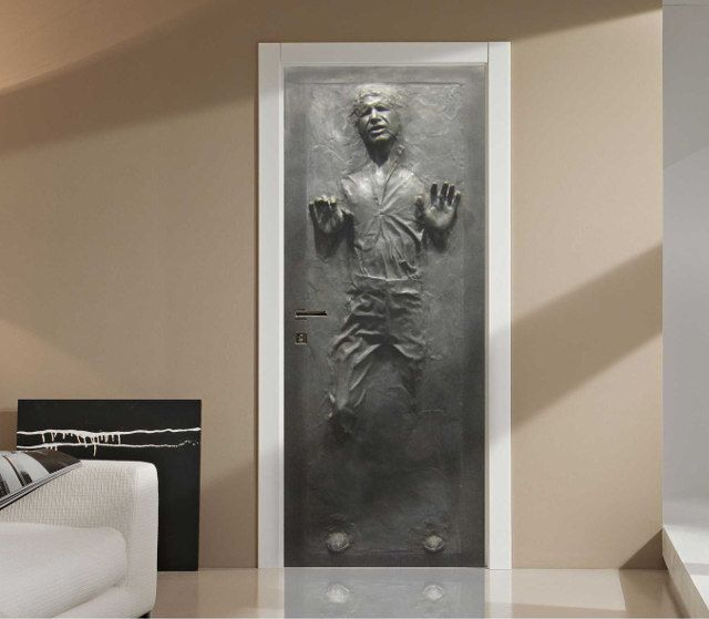 Han Solo In Carbonite Door Decal Ok Once I Have My Own Home