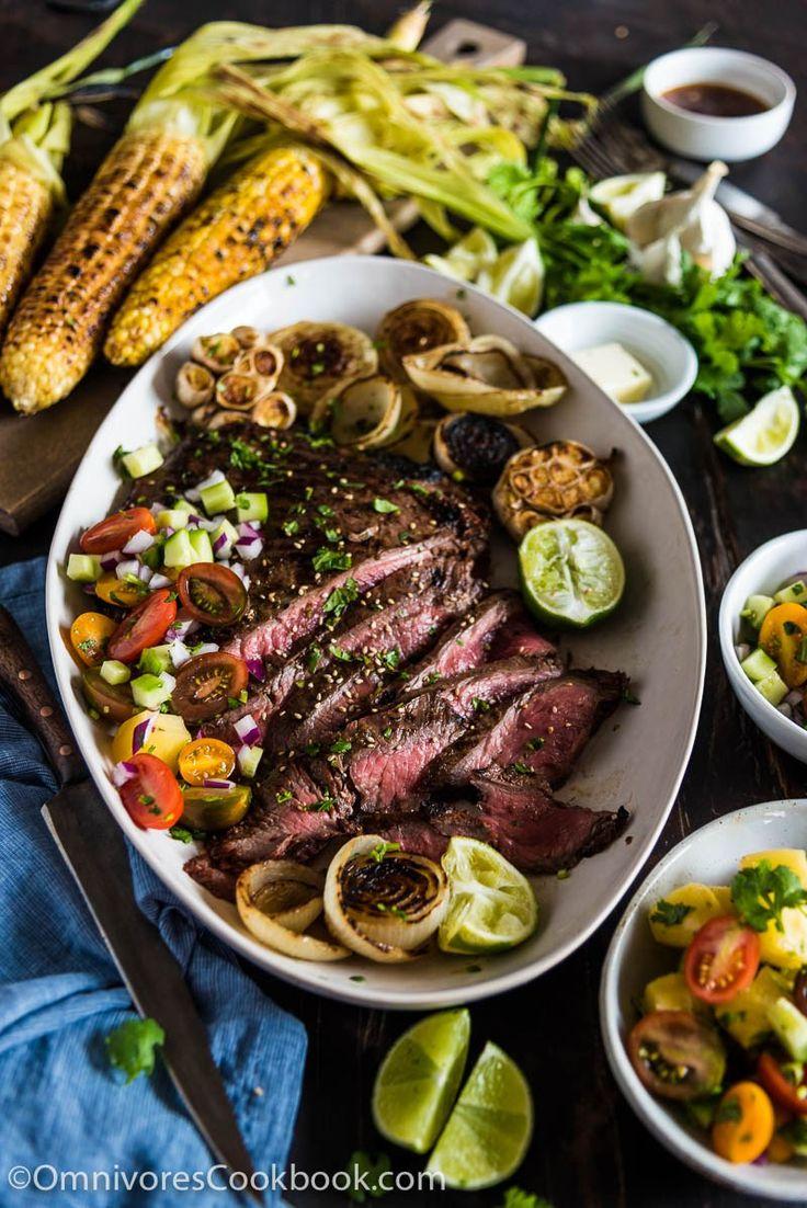 Inexpensive Dinner Party Ideas Part - 39: Pineapple Marinated Flank Steak