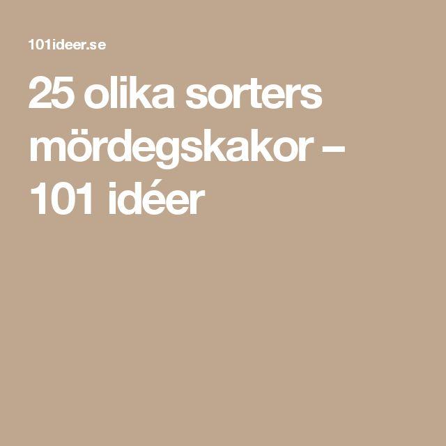 25 olika sorters mördegskakor – 101 idéer