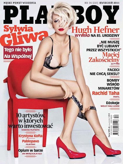 Playboy (Poland) April 2011 with Sylwia Gliwa on the cover of the magazine