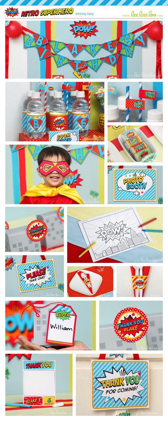 283 best Superhero party images on Pinterest