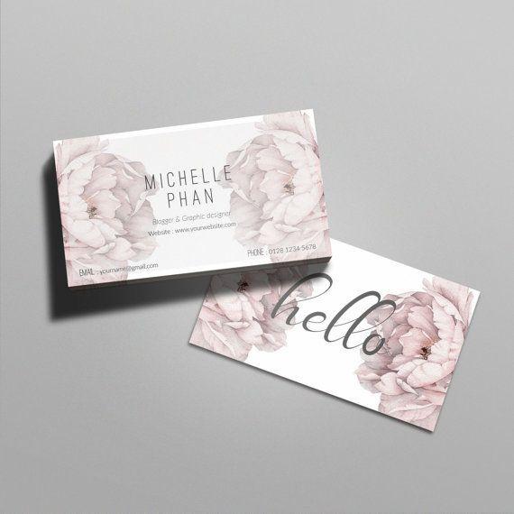 Floral business card template / Elegant business card design