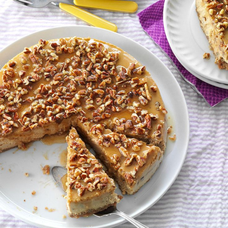 Honey Pecan Cheesecake Recipe -<B>Meet the Cook:</B> Birthdays and holidays are great times for cheesecake, and Thanksgiving's ideal for this particular one. In our annual church bake-off, it won first place.    I'm a stay-at-home mom to a son, 5...with the energy of 10 kangaroos! -Tish Frish, Hampden, Maine