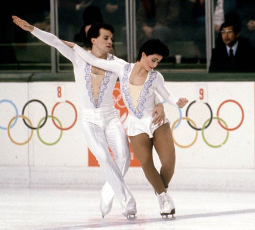 Melinda Kunhegyi and Lyndon Johnston competing in the 1984 Olympic Games.